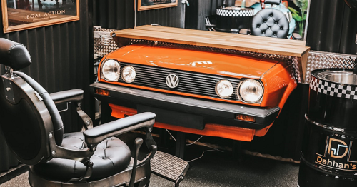 Exeter's got a new 'car-themed' barber shop