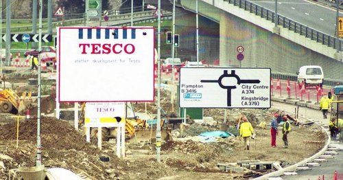 Plymouth's forgotten Tesco supermarket off the A38