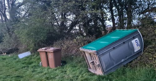 Aftermath of illegal encampment site in Plympton