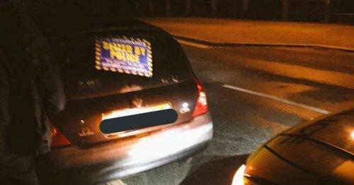 Car seized after 'childish gesture'