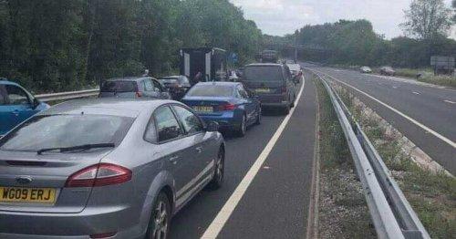 Police incident blocks A380 South Devon Highway both ways