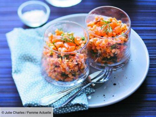 Lentilles corail à l'aneth et au saumon fumé : découvrez les recettes de cuisine de Femme Actuelle Le MAG