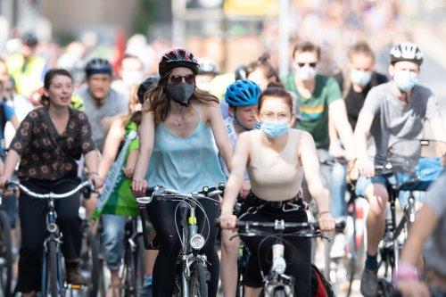 Fahrraddemo zum Klimastreik