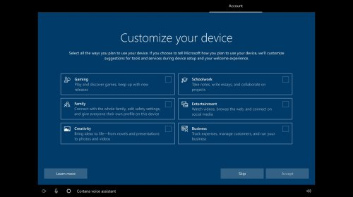 Windows 10 setup screen could soon ask users how they'll use their PC | Pocketnow
