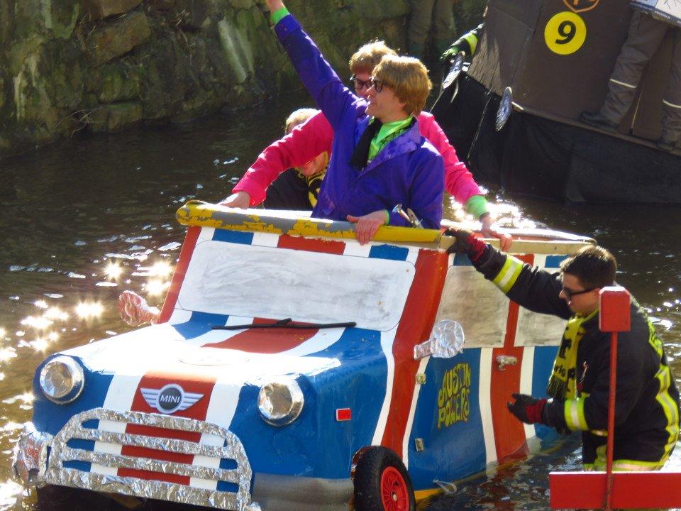 Carnival Raft Race in Schramberg, Germany