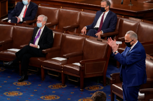 Rare Schumer, McConnell showdown previews floor fight on Dems' election bill