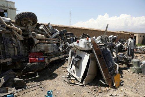 U.S. trashes unwanted gear in Afghanistan, sells as scrap