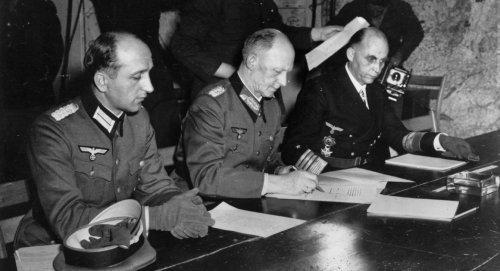 Nazi Germany surrenders, May 7, 1945