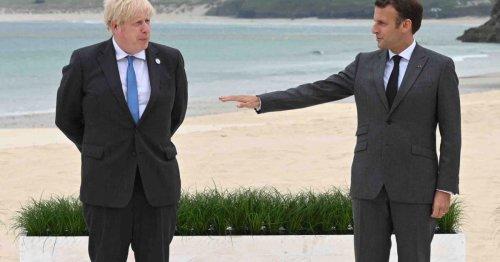 Macron and Johnson speak, frostily