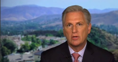 Desperate Kevin McCarthy Says Democrats Are Destroying America By Creating Jobs And Ending COVID