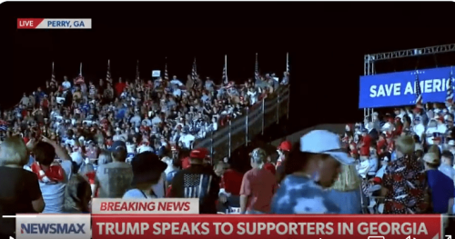 Trump Backstabs Kemp Other GOPers At GA Rally, Weaves Phenomenal Lies About AZ Audit, Even For Him