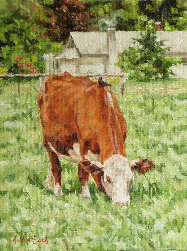 Original Oil Painting Cow With Bird On Back By AudraEsch On Etsy Originals Oil, Oil Paintings, Cow | Modern Art Movements To Inspire Your Design