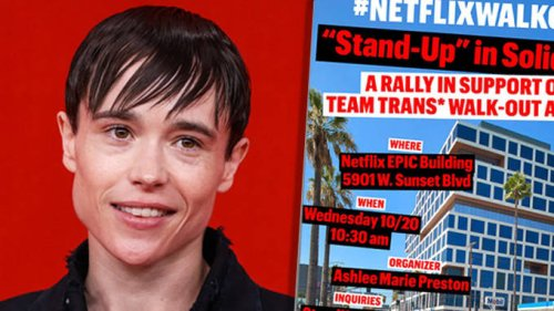 Elliot Page speaks out in support of Netflix employee walkout over Dave Chappelle transphobia controversy