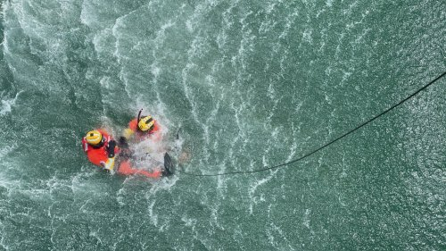What it's like to rescue someone at sea from a Coast Guard helicopter