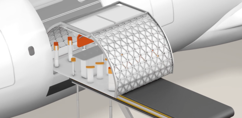 New Airbus concept makes airliner interiors quickly customizable