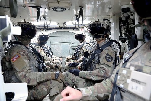 These augmented-reality goggles let soldiers see through vehicle walls