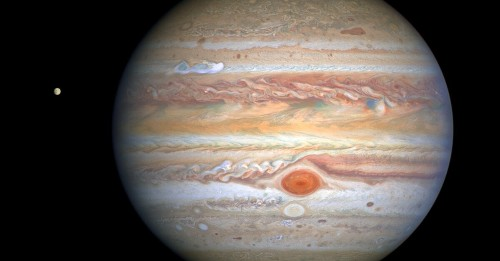 Crisp Hubble snapshot shows powerful new Jupiter storms