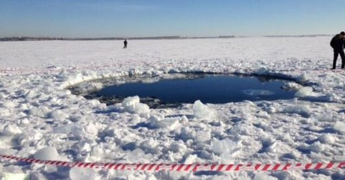 Half-Ton Fragment Of Russian Meteorite Recovered From Lake
