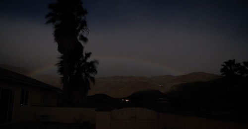 In perfect conditions, rainbows can come alive at night