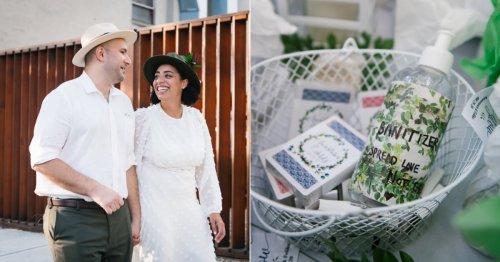 #WeddedAF: Anastasia and Feliks's Brooklyn Microwedding Was a Vision in Green