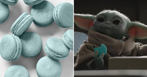 Enough Jedi Mind Tricks — Here's How to Make Baby Yoda's Blue-Milk Macarons at Home