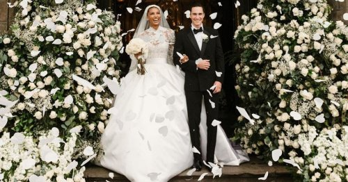 Jasmine Tookes's Zuhair Murad Wedding Dress Is Inspired by Grace Kelly's 1956 Bridal Gown