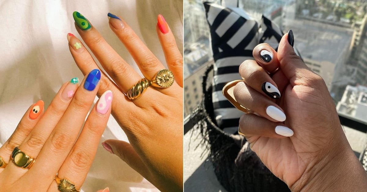 The Yin-and-Yang Nail-Art Trend Is Here to Bring Some Balance to Your Beauty Routine