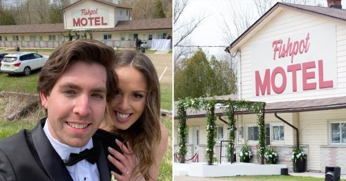 Let's Pop Some Zhampagne For This Couple Who Got Married at the Schitt's Creek Motel