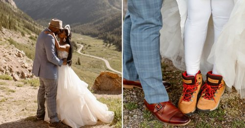 This Couple Ditched Their Georgia Wedding Plans For a Mountain Elopement in Colorado, and They Wouldn't Change a Thing
