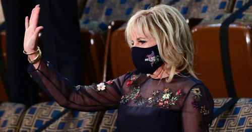 """Jill Biden Just Wore a """"Double Repurposed"""" Version of Her Symbolic Inauguration Dress"""