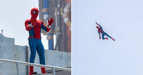 The Animatronic Spider-Man at Disneyland's New Avengers Campus Is Just So Wild to Watch