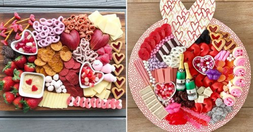 23 Valentine's Day Charcuterie Boards That Are Packed With Candy, Chocolate, Cheese, and More