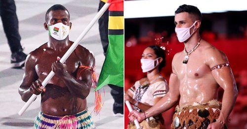My Thirst Has Henceforth Been Quenched by These Oiled-Up Olympic Flag Bearers