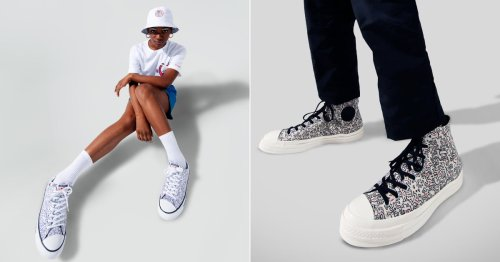 Converse Has a New Collaboration, and Oh My! Those Wiggly-Print Sneakers
