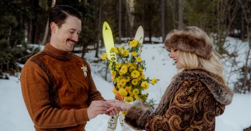 You'll Totally Dig This '70s-Style Colorado Rocky Mountain Wedding Shoot — Just Look at the Outfits!