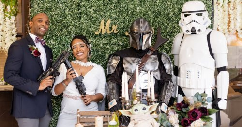 Boho Meets Star Wars? This Backyard Wedding Combined the 2, and We're Obsessed!