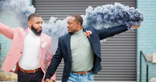This Industrial Baltimore Wedding Shoot Featured a Real-Life Couple, and Their Outfits Are Everything