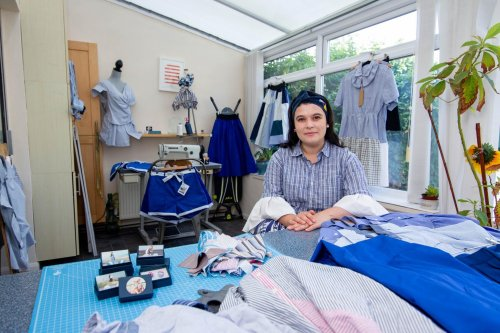Southsea designer's 'dazzling' clothes made from old T-shirts