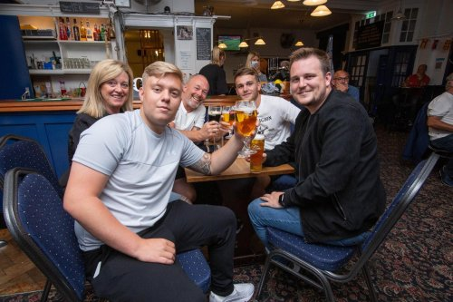 13 photos as fans packed pubs across Portsmouth for England vs Scotland
