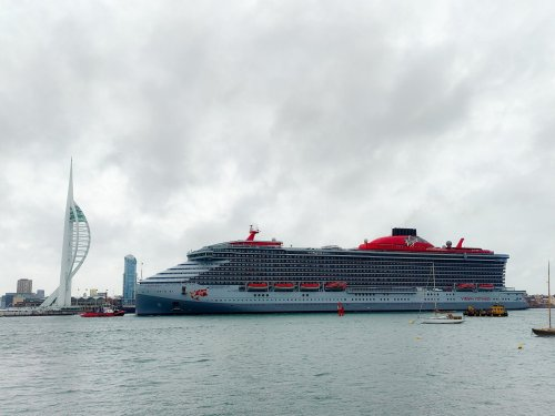 See the first photos of luxury cruise liner Scarlet Lady arriving in Portsmouth
