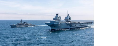 New carrier HMS Prince of Wales has her first encounter with a Russian warship