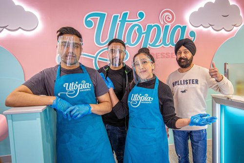 Family-run dessert shop Utopia opens in Fareham - selling Biscoff gelato, Bueno brownies and banoffee waffles
