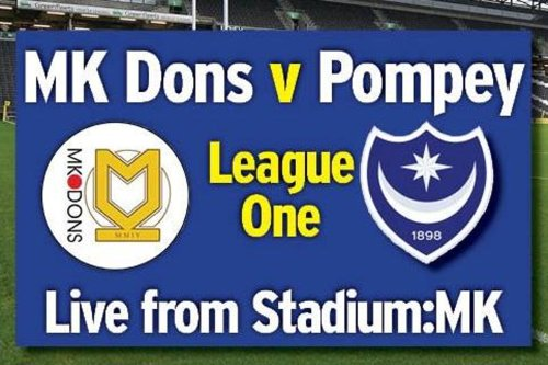 MK Dons 1 Pompey 0 match centre: LIVE updates as Whatmough receives second red card of season