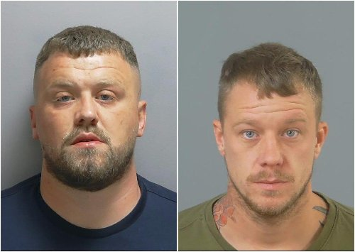These two men were jailed for life today after they were found guilty of 'assassinating' another man