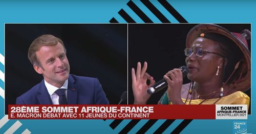VIDÉO. Emmanuel Macron recadré avec panache par une jeune Burkinabè au sommet Afrique-France
