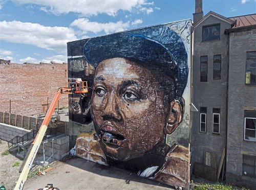 How the 'beautiful mural' celebrating the legendary Josh Gibson came together