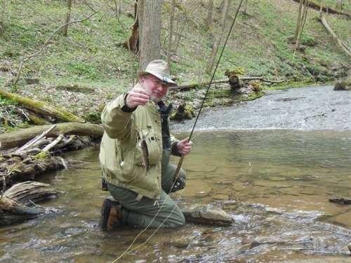 On trout streams I'm not the predator, I'm the prey