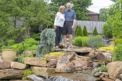 Veteran gardener starts over and ends up with a waterfall