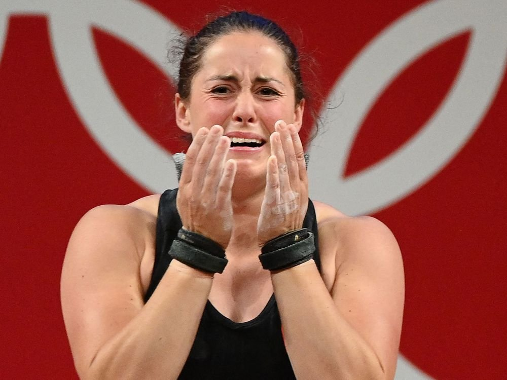 Maude Charron on her Olympic weightlifting gold: 'Just hearing the anthem with the rings and stuff, it's chills everywhere'