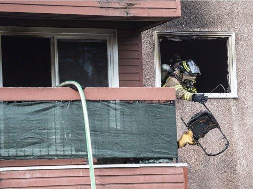 Two taken to hospital as crews battle blaze at central Edmonton apartment